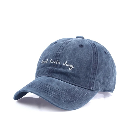 ✨NEW✨ Washed Bad Hair Day Cap - Blue 127d7ecc8a13